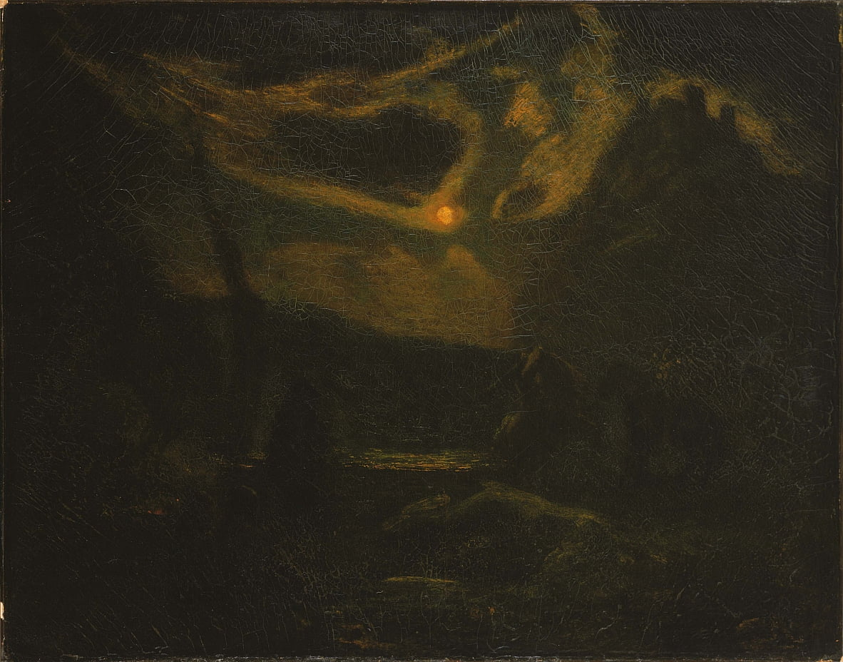Macbeth e as bruxas de Albert Pinkham Ryder