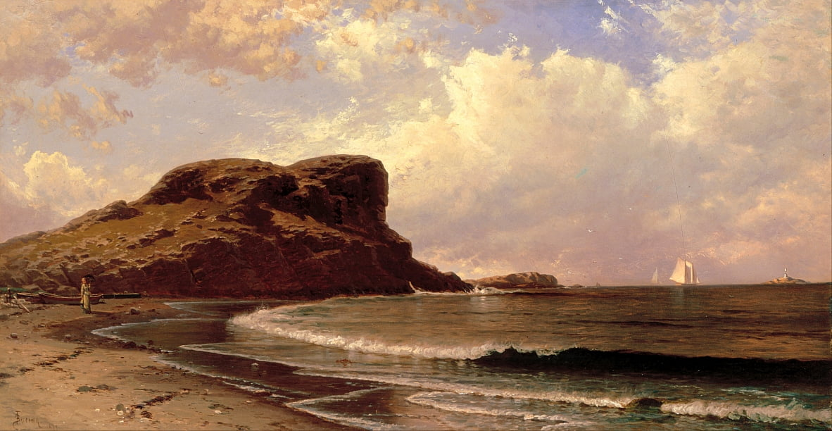 Castle Rock, Nahant, Massachusetts de Alfred Thompson Bricher