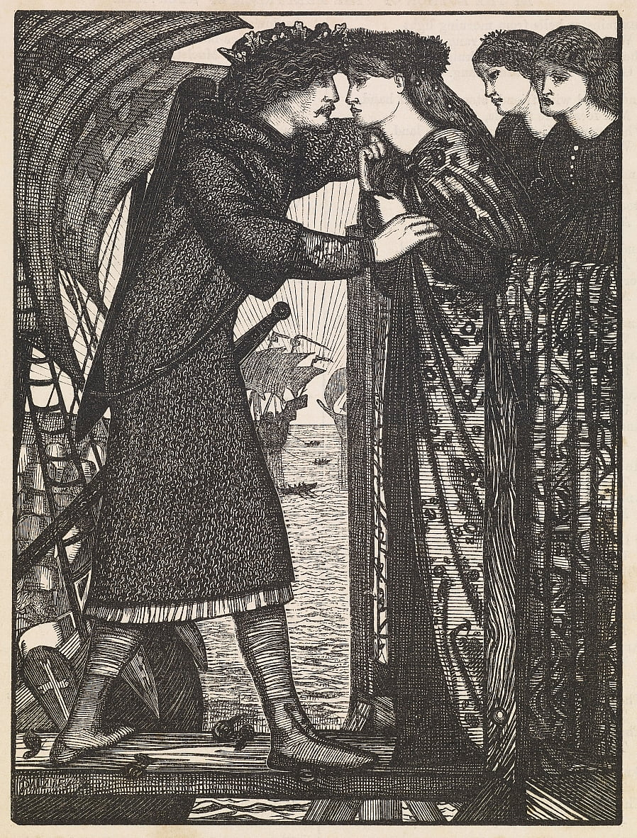 Rei Sigurd, o Cruzado de Edward Burne Jones