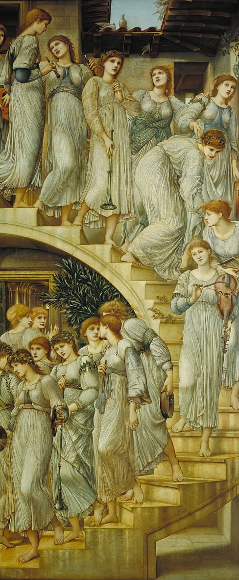 As escadas douradas de Edward Burne Jones