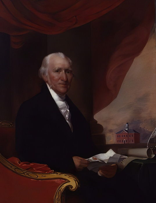 O tenente governador William Phillips, antes de 1804 de Gilbert Stuart