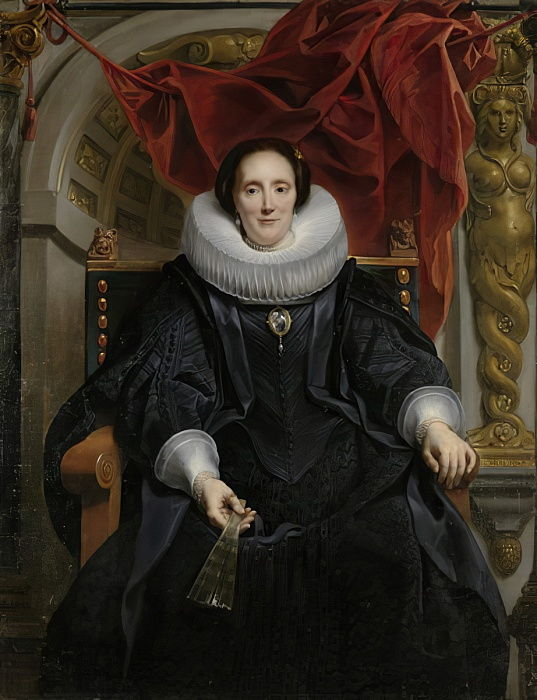 Retrato de Catharina Behaghel, 1635 de Jacob Jordaens