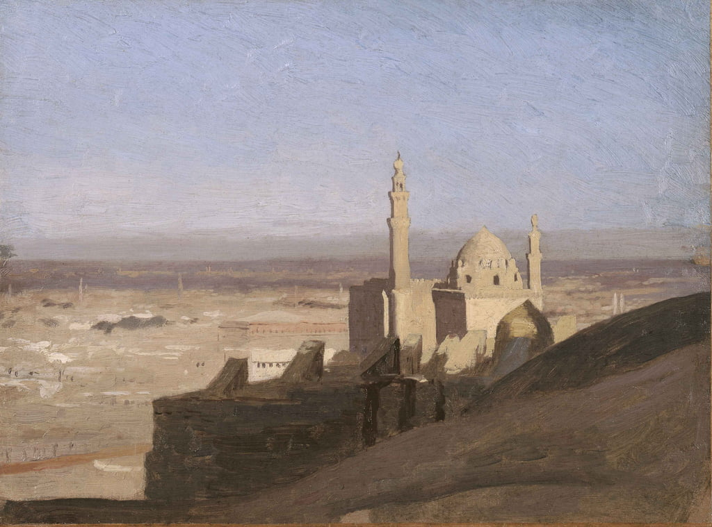 Vista do Cairo, c.1861-62 de Jean Leon Gerome