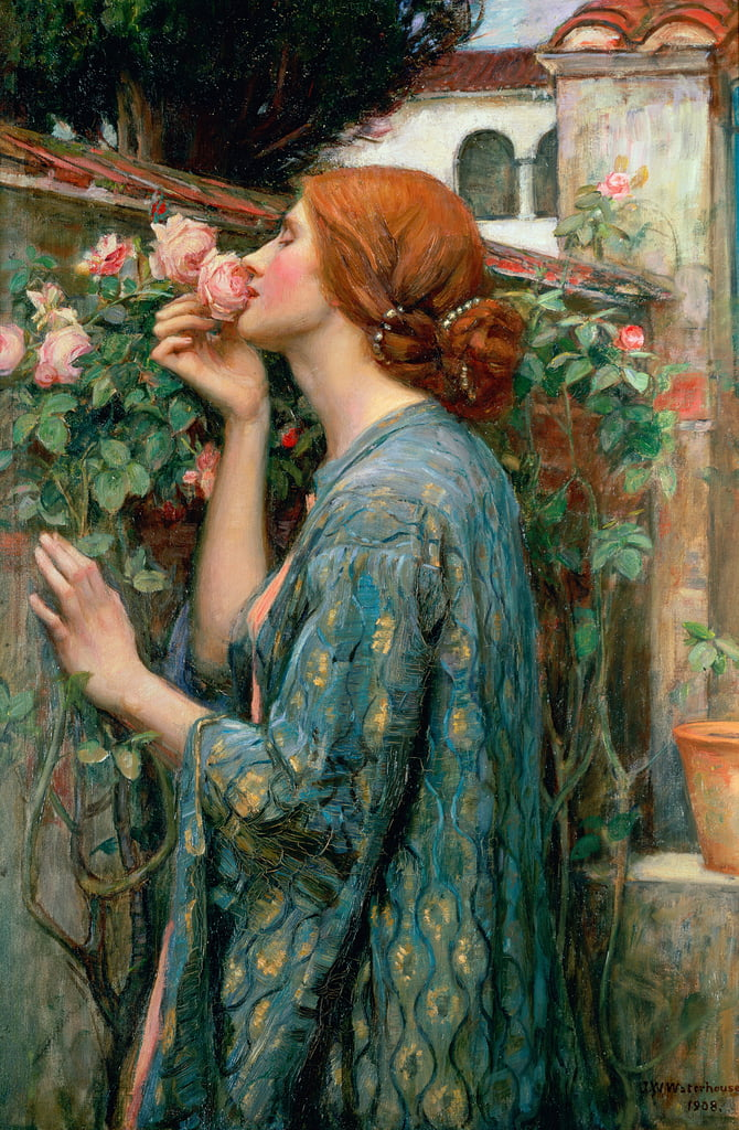 A alma da rosa, 1908 de John William Waterhouse
