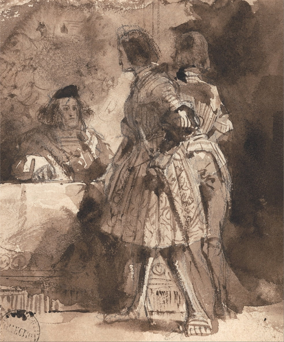 Goetz von Berlichingen antes do magistrado imperial de Richard Parkes Bonington