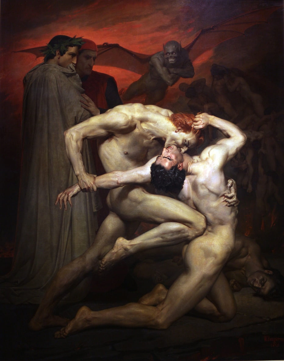 Dante e Virgílio de William Adolphe Bouguereau