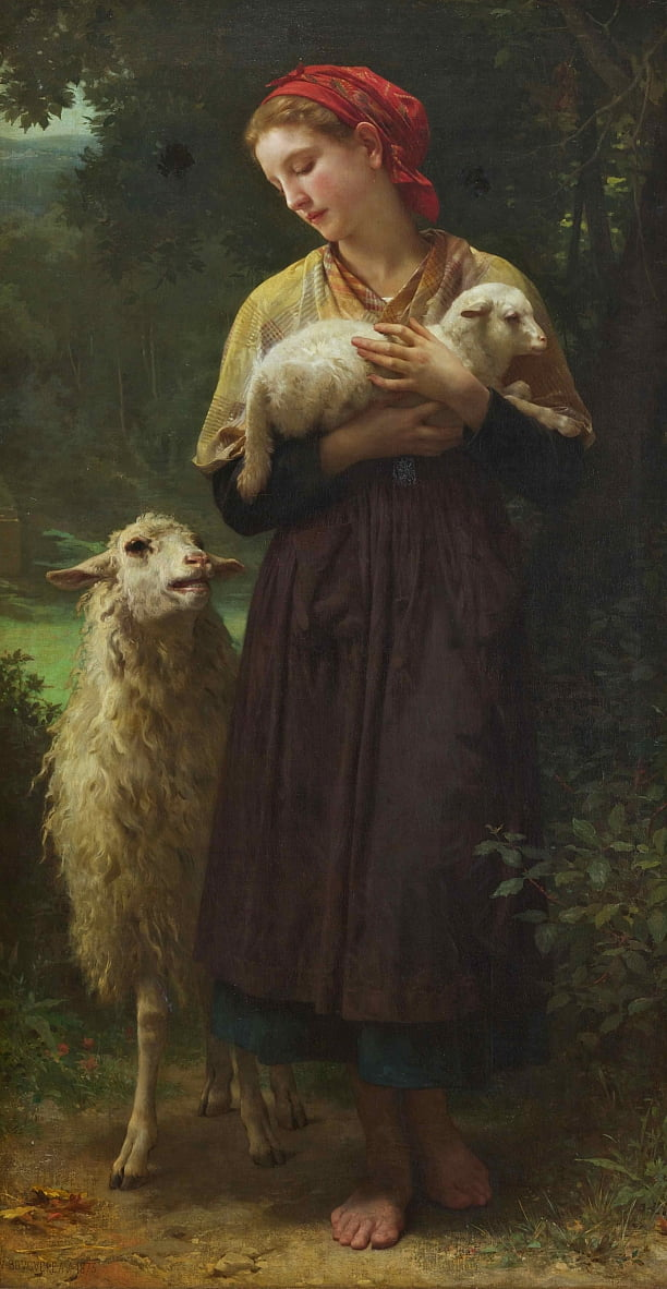 LAgneau New-Ne (A Pastora) de William Adolphe Bouguereau