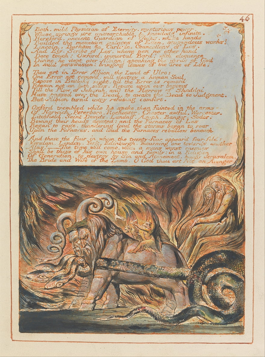 Jerusalém, Placa 46, de William Blake
