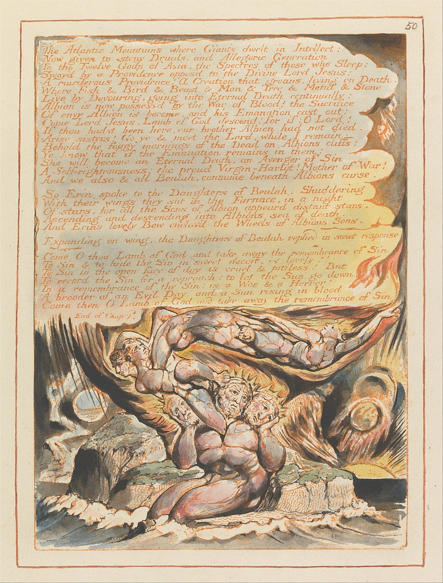 Jerusalém, Placa 50, de William Blake