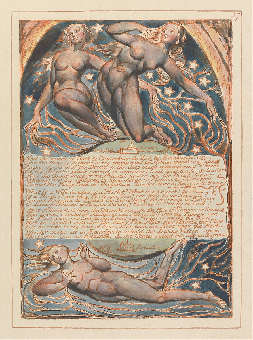 Jerusalém, Placa 57, de William Blake
