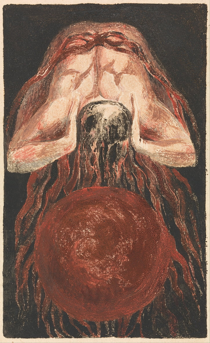 O Primeiro Livro de Urizen, Placa 16 (Bentley 17) de William Blake