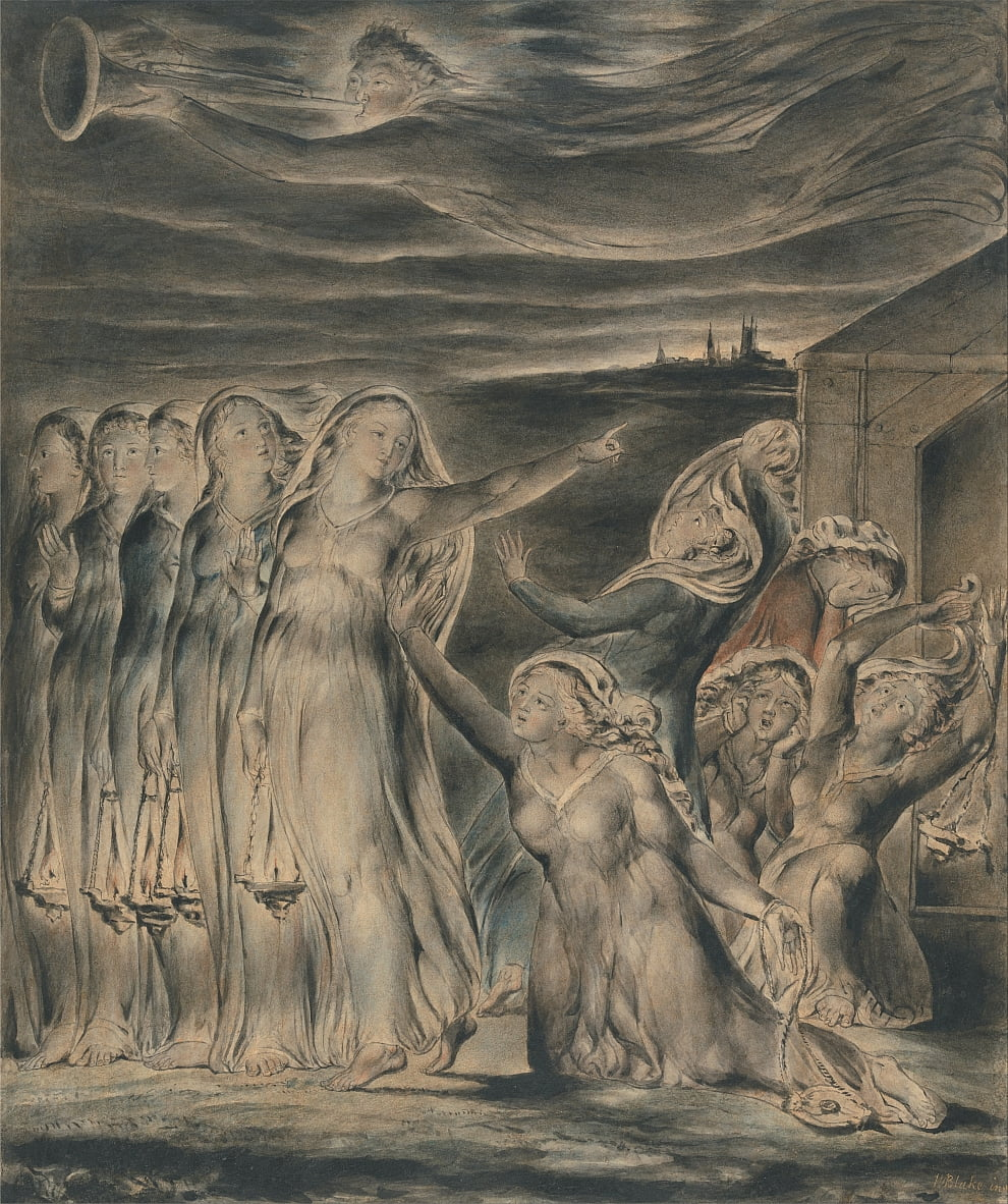 A parábola das virgens sábias e tolas de William Blake