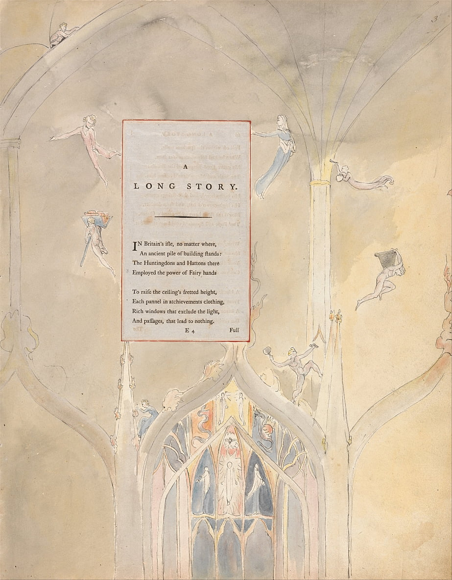 Os Poemas De Thomas Gray, Design 25, de William Blake