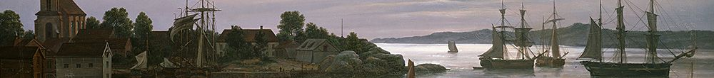 Larvik por Moonlight (Johan Christian Dahl)